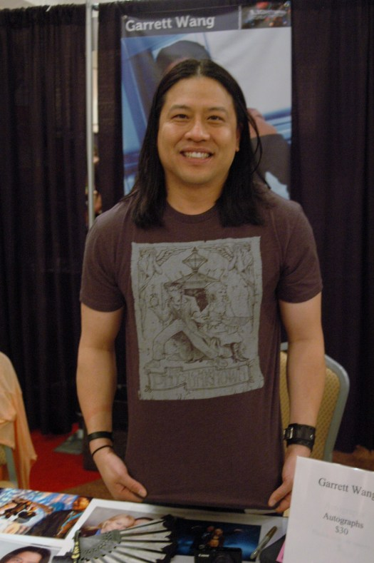 Garrett Wang showing off his Cosmic City Doctor Who steampunk t-shirt http://cosmiccitytees.bigcartel.com/