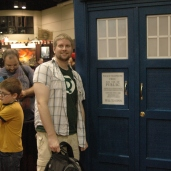 Nate with Tardis