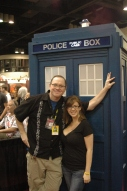Amanda and builder of replica Tardis at Megacon 2012