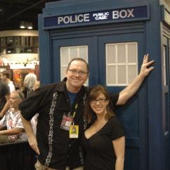 Amanda and builder of replica Tardis at Megacon 2012