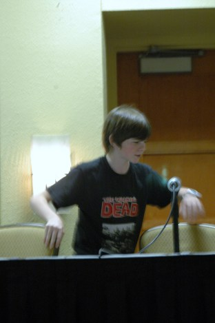 Chandler Riggs aka Carl from The Walking Dead at Tampa Bay Comic Con 2012
