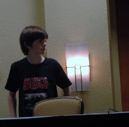 Chandler Riggs sporting a Waking Dead t-shirt