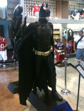 Batman costume on display in the store exiting Terminator 2:3-D