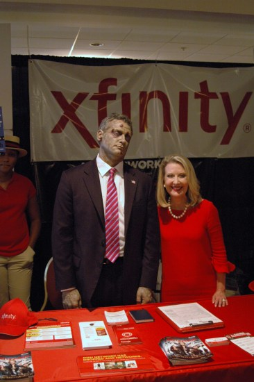 A. Zombie and his wife Meredith at a campaign rally in Atlanta, Georgia