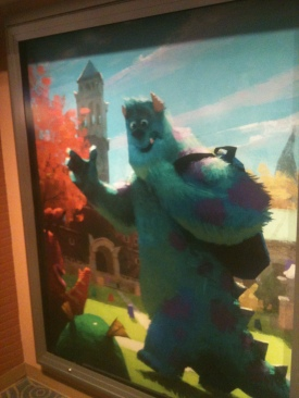 Pixar's Monster University artwork