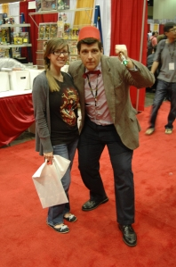 Amanda with Doctor Who