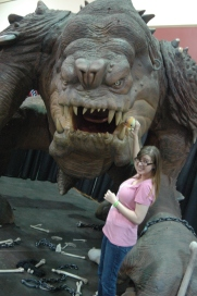 Amanda, Merpa, and Roxy the Rancor