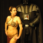 Slave Leia and Darth Vader