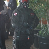 Umbrella Corp. security keep the peace