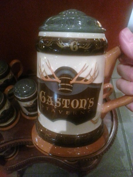 Gaston's Tavern mug at New Fantasyland. Perfect to put PBR in.