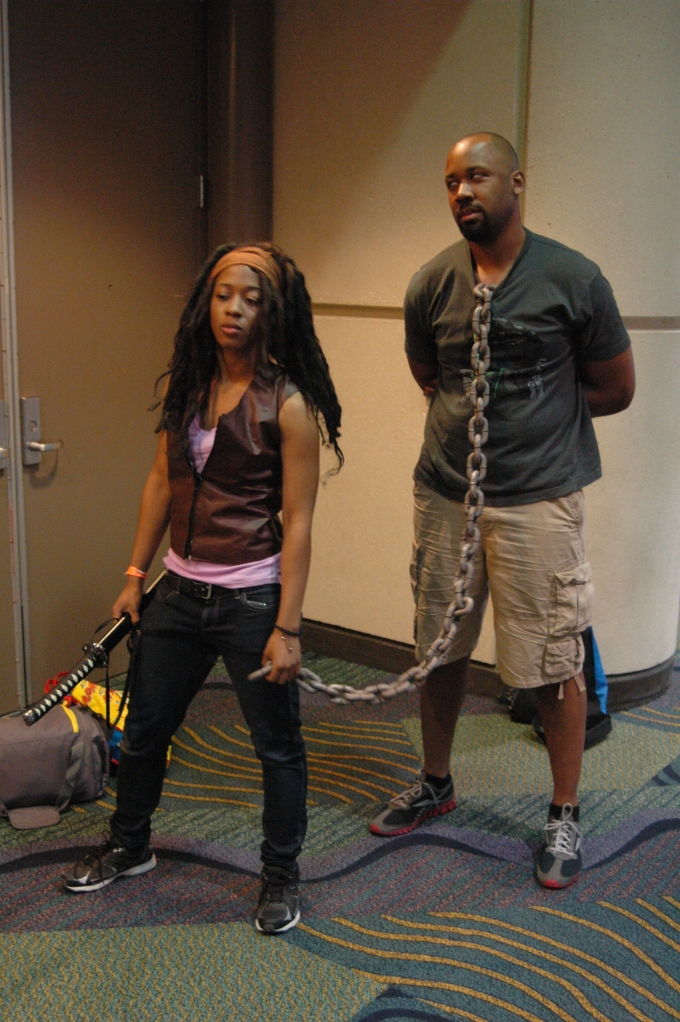 Michonne cosplayer from MegaCon 2013
