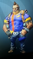 Salvador from Borderlands wearing purple