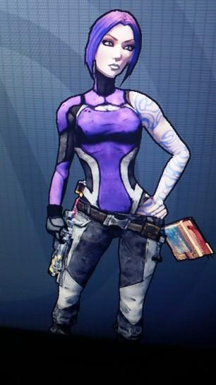 Maya from Borderlands wearing purple