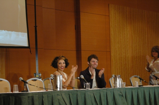 Jasika Nicole and Seth Grabel of Fringe at Dragon Con 2013
