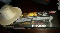 Muldoon's hat and SPAS-12 shotgun