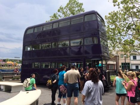 Double decker night bus
