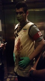 DR Zed in elevator @ DragonCon 2014